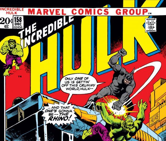 Incredible Hulk (1962) #158 Cover