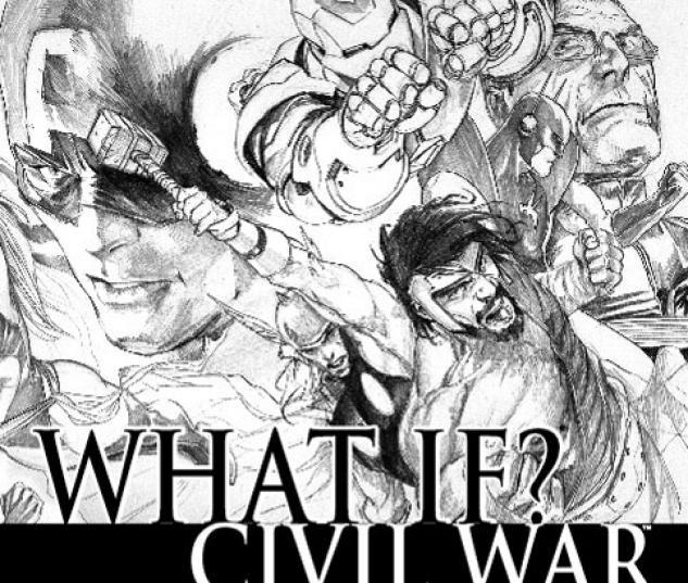 WHAT IF? CIVIL WAR DJURDJEVIC WRAPAROUND SKETCH VARIANT (1 FOR #1