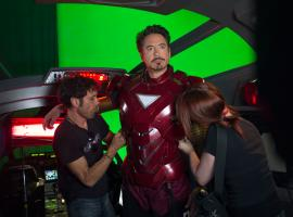 Robert Downey, Jr. (Tony Stark/Iron Man) on the set of Marvel's The Avengers