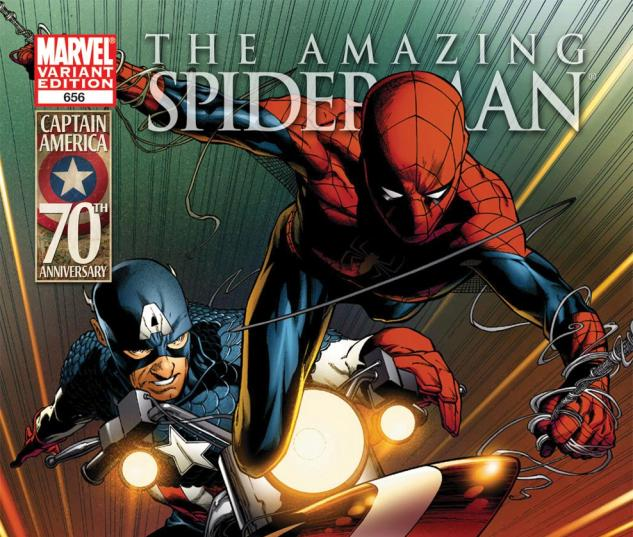 Amazing Spider-Man (1999) #656, Captain America 70th Anniversary Variant