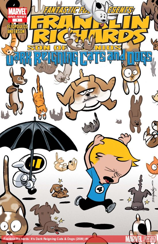 Franklin Richards: It's Dark Reigning Cats & Dogs (2009) #1
