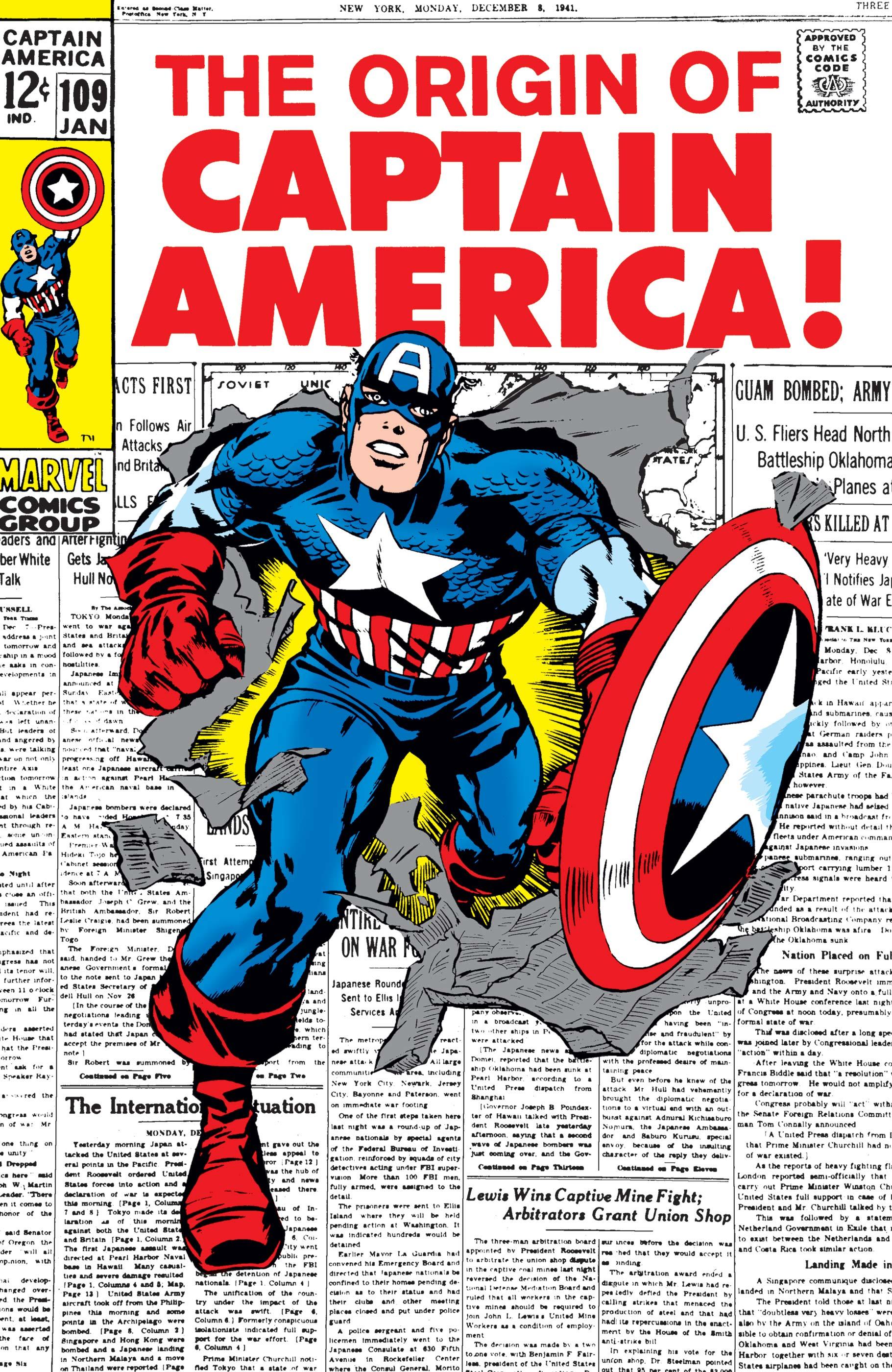 Resultado de imagem para captain america 109 kirby