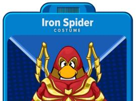 Iron Spider player card from the Marvel Super Hero Takeover in Club Penguin