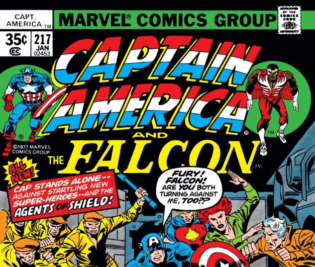 Captain America (1968) #217 Cover