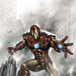 Indomitable Iron Man Black and White