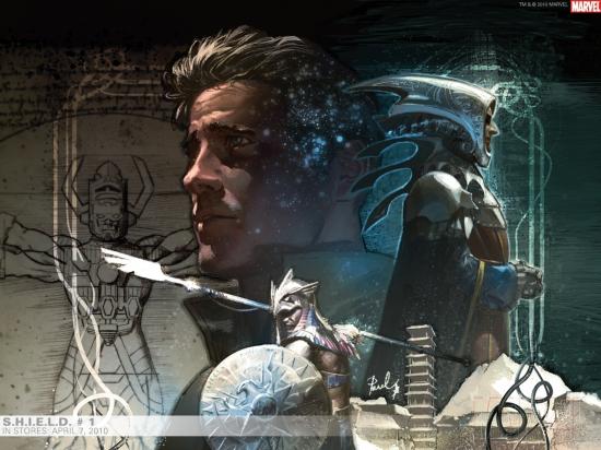 S.H.I.E.L.D. (2010) #1 (BLACK AND WHITE ISSUE VARIANT) Wallpaper