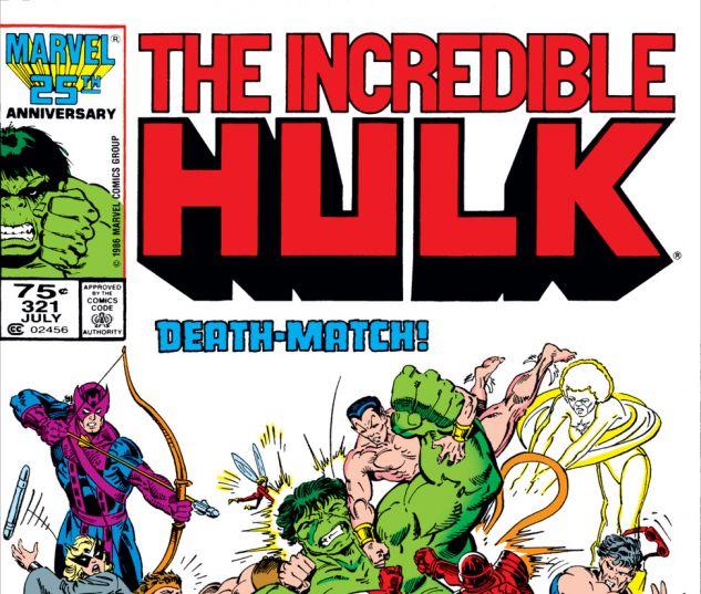 Incredible Hulk (1962) #321 Cover