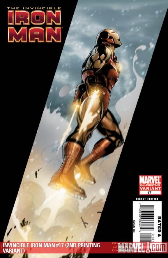 Invincible Iron Man (2008) #17 (2ND PRINTING VARIANT)