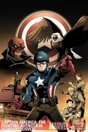 Captain America: The Fighting Avenger (2010) #1 (Gurihiru Cover)