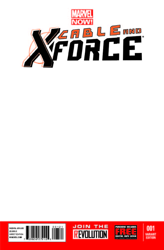 Cable and X-Force (2012) #1 (Blank Cover Variant)