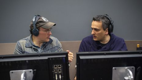 Directors Anthony & Joe Russo on set of Marvel's Captain America: The Winter Soldier