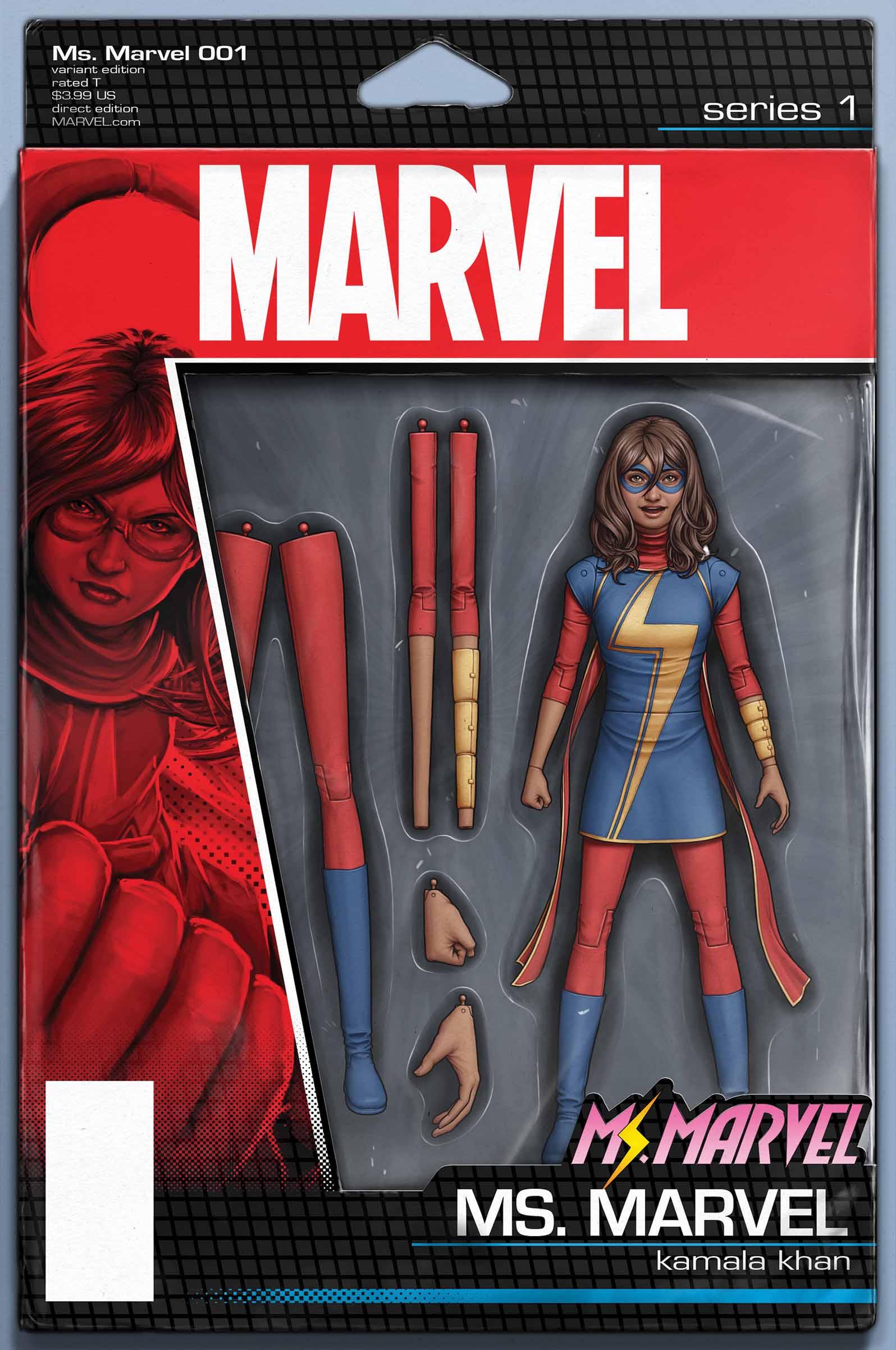 Ms. Marvel (2015) #1 (Christopher Action Figure Variant)