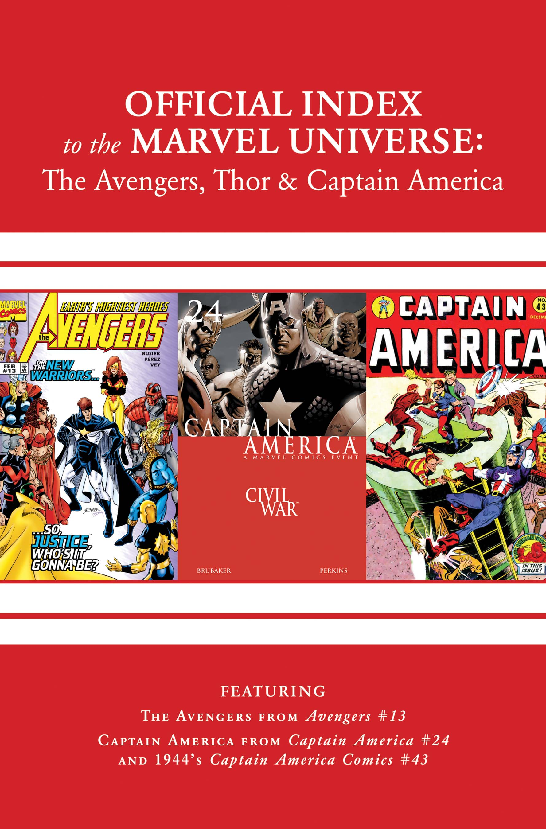 Avengers, Thor & Captain America: Official Index to the Marvel Universe (2011) #14