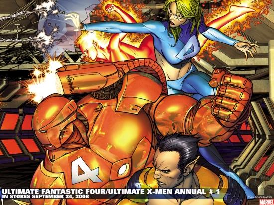 Ultimate Fantastic Four/Ultimate X-Men Annual (2008) #1 Wallpaper