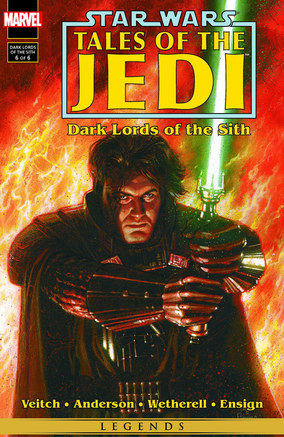 Star Wars Tales Of The Jedi Dark Lords Of The Sith 1994 6 Comic Issues Marvel