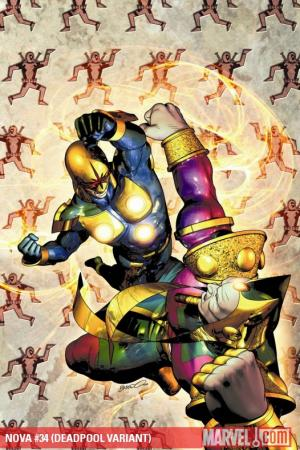 Nova (2007) #34 (DEADPOOL VARIANT)