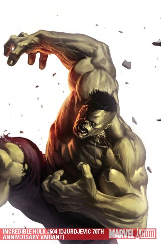 Incredible Hulks (2009) #604 (DJURDJEVIC 70TH ANNIVERSARY VARIANT)