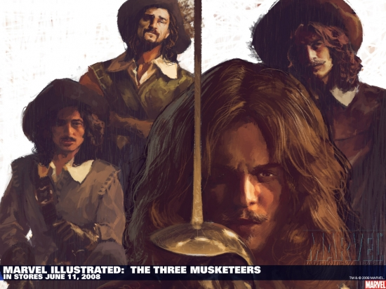 Marvel Illustrated: The Three Musketeers (2008) #1 Wallpaper