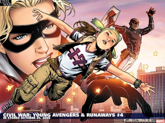 Civil War: Young Avengers & Runaways (2006) #4 Wallpaper