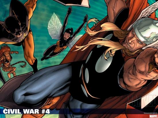 Civil War (2006) #4 Wallpaper