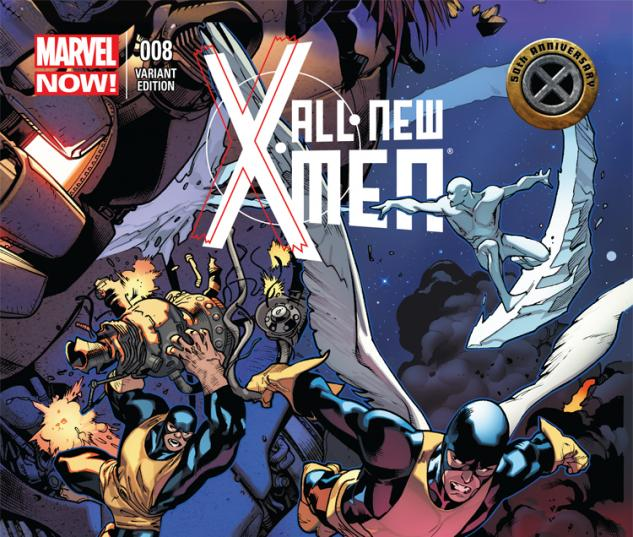 cover from All-New X-Men (2012) #8 (X-MEN 50TH ANNIVERSARY VARIANT)