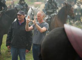 Director Alan Taylor on set of Marvel's Thor: The Dark World