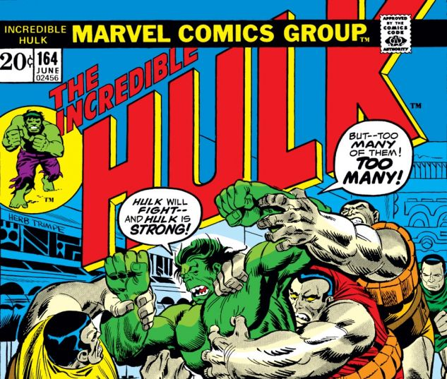 Incredible Hulk (1962) #164 Cover