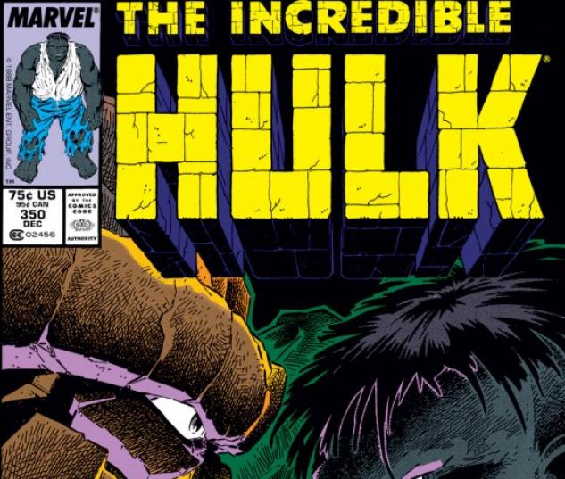 INCREDIBLE HULK #350 COVER