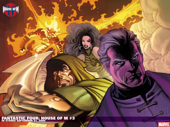 Fantastic Four: House of M (2005) #3 Wallpaper