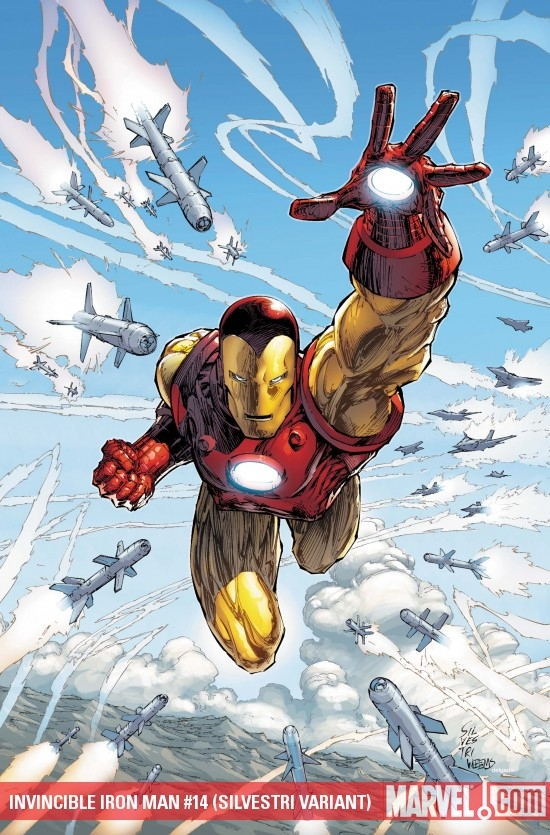 Invincible Iron Man (2008) #14 (SILVESTRI VARIANT)