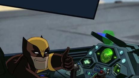 Screenshot of Wolverine from Ep. 9 of USM