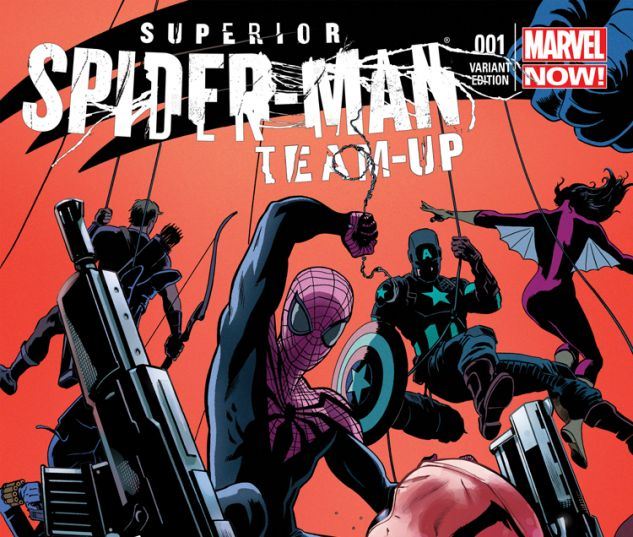 SUPERIOR SPIDER-MAN TEAM-UP 1 PARTY VARIANT (WITH DIGITAL CODE)