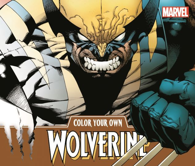Color Your Own Wolverine Trade Paperback Comic Books Color Your Own Wolverine