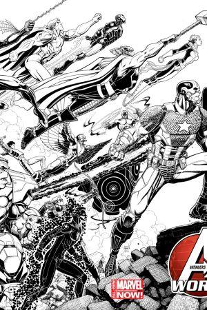 Avengers World (2014) #1 (Adams Wraparound Sketch Variant)