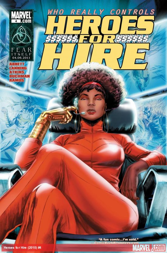 """Hello, Hero. Are you for hire?"" Heroes for Hire #4. Cover artist Doug Braithwaite Copyright Marvel."