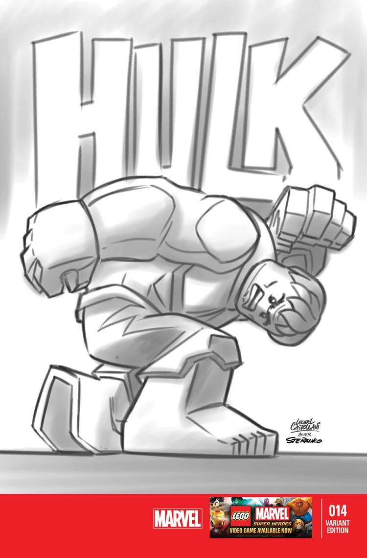 Indestructible Hulk (2012) #14 (Castellani Lego Sketch Variant)