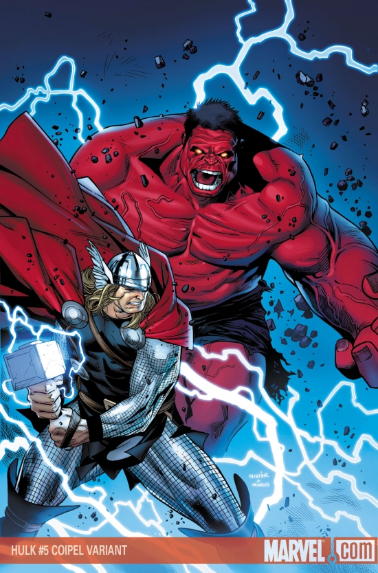 Hulk (2008) #5 (COIPEL (50/50 COVER))