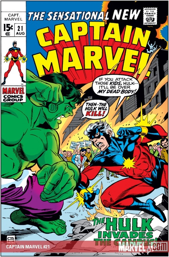 Captain Marvel (1968) #21