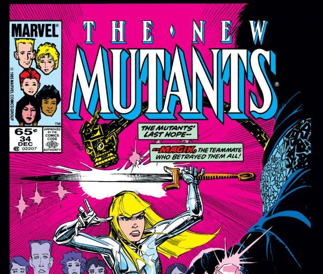 New Mutants (1983) #34 Cover
