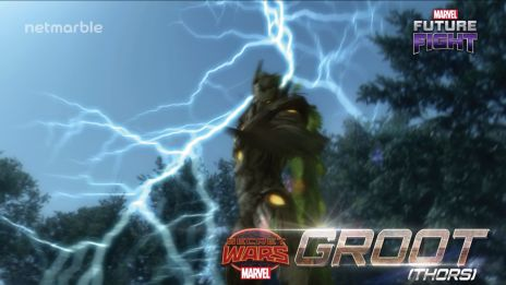 Check in with Groot in Marvel Future Fight!