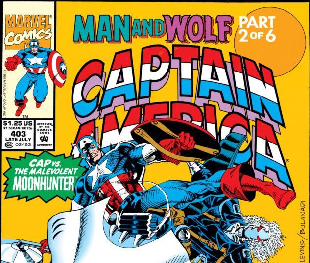 Captain America (1968) #403 Cover