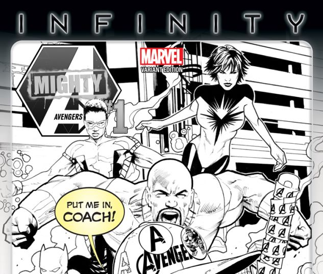 MIGHTY AVENGERS 1 BARBERI PARTY SKETCH VARIANT (INF, WITH DIGITAL CODE)