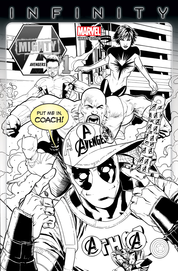 Mighty Avengers (2013) #1 (Barberi Party Sketch Variant)