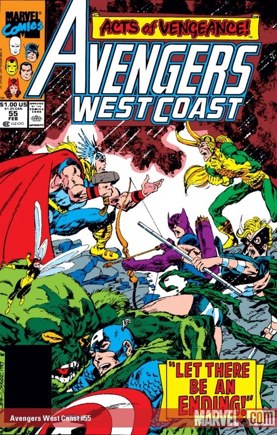 Avengers West Coast (1985) #55