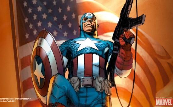 Ultimate Comics Captain America (2010) #1 Wallpaper