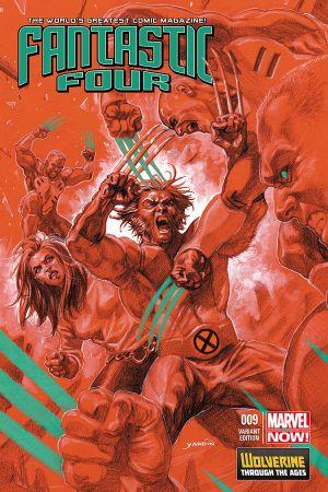 Fantastic Four #9  (Yardin Wolverine Costume Variant)