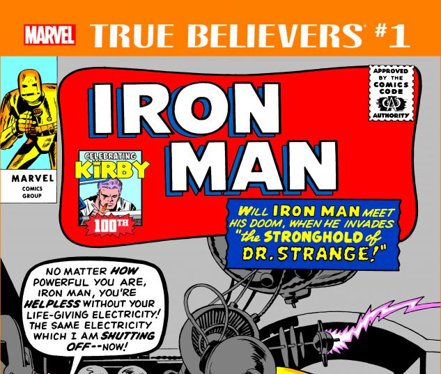 cover from True Believers: Kirby 100th - Iron Man (2017) #1