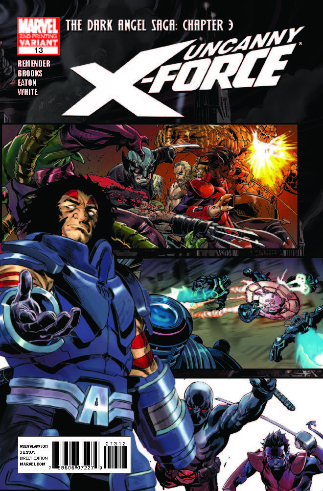 Uncanny X-Force (2010) #13 (2nd Printing Variant)