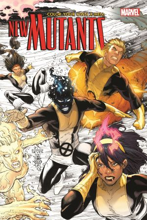 Color Your Own X-Men: The New Mutants (Trade Paperback)