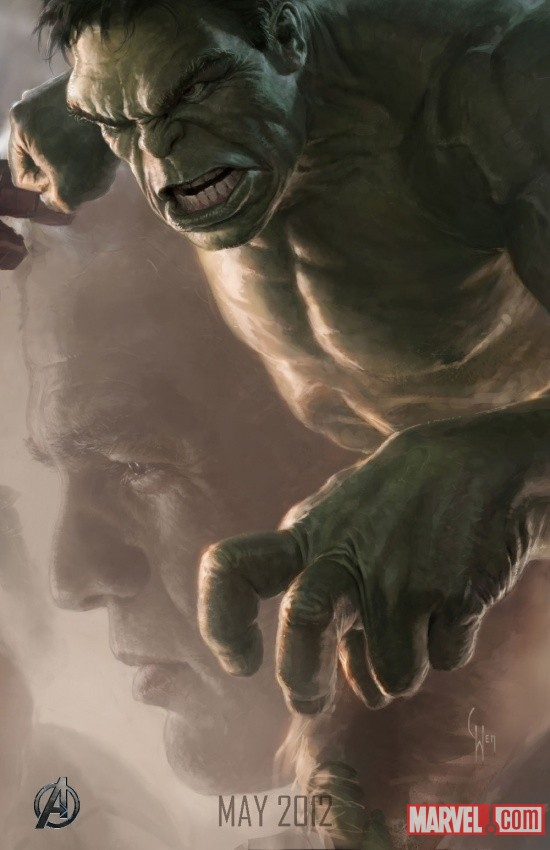 Hulk SDCC 2011 exclusive concept art poster